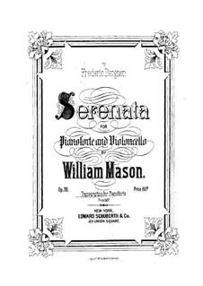 Serenade für Cello und Klavier, Op.39: Version für Klavier by William Mason