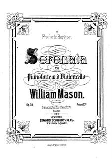 Serenade für Cello und Klavier, Op.39: Solostimme, Partitur für zwei Interpreten by William Mason