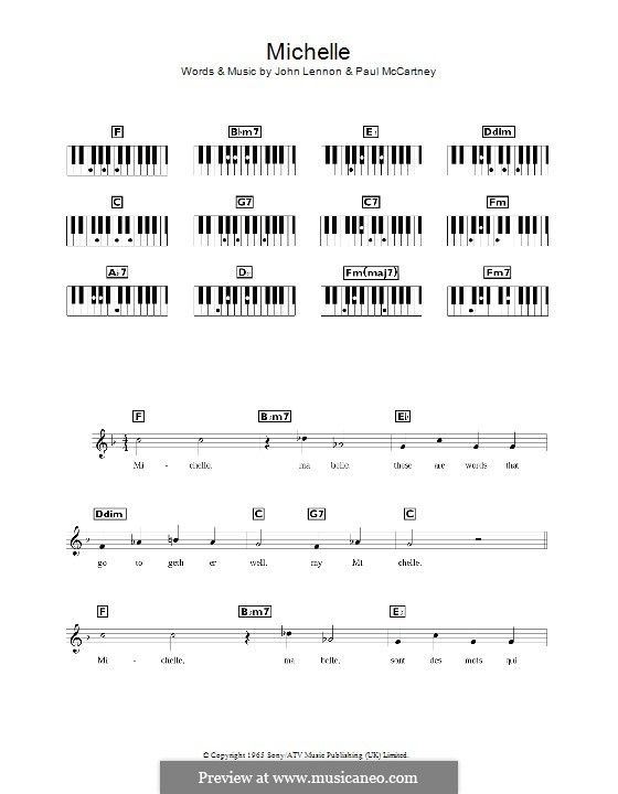 Michelle (The Beatles), for One Instrument: Für Keyboard by John Lennon, Paul McCartney