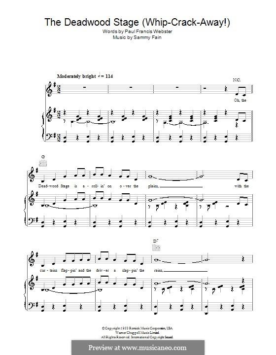 The Deadwood Stage (Whip-Crack-Away): Für Stimme und Klavier (oder Gitarre) by Dora Day