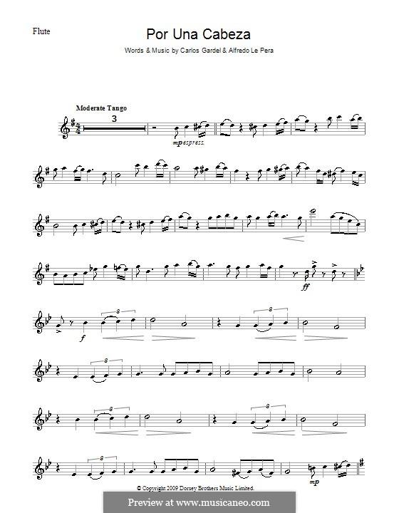Por Una Cabeza: Für Flöte by Carlos Gardel