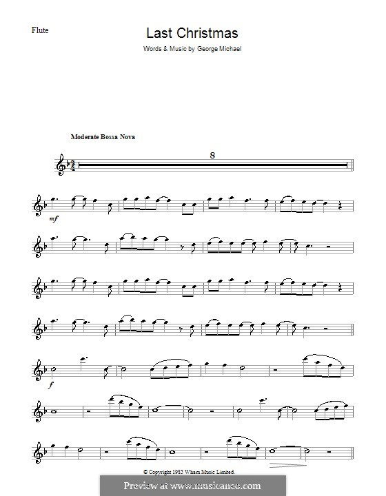 Last Christmas (Wham!): Für Flöte by George Michael