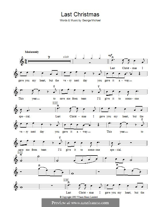 Last Christmas (Wham!): Für Violine by George Michael