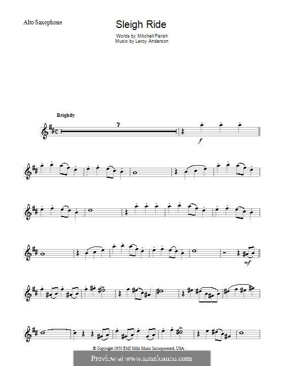 Sleigh Ride: Für Altsaxophon by Leroy Anderson
