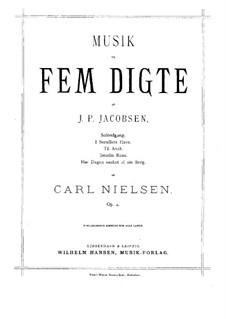 Fünf Lieder, Op.4: Fünf Lieder by Carl Nielsen