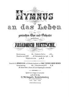 Hymnus an das Leben: Hymnus an das Leben by Friedrich Nietzsche