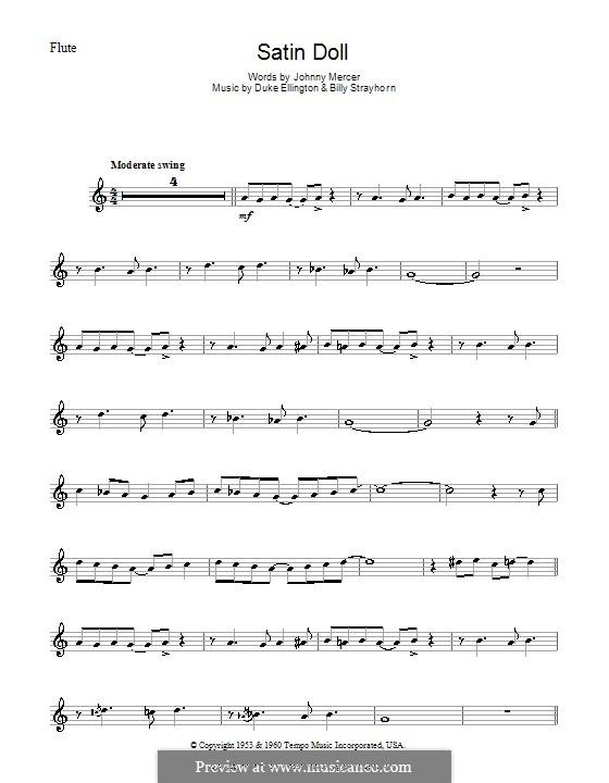 Satin Doll: Für Flöte by Billy Strayhorn, Duke Ellington