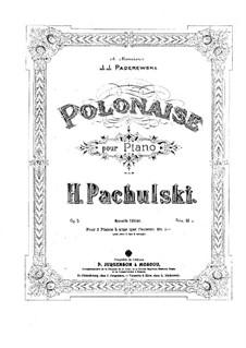 Polonaise, Op.5: Für zwei Klaviere by Henryk Pachulski