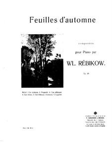 Herbstblätter: Partitur für Klavier by Wladimir Rebikow