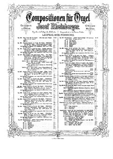 Sonate für Orgel Nr.10, Op.146: Sonate für Orgel Nr.10 by Josef Gabriel Rheinberger