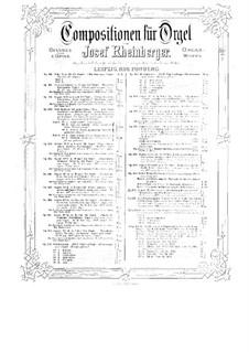 Sonate für Orgel Nr.19, Op.193: Sonate für Orgel Nr.19 by Josef Gabriel Rheinberger