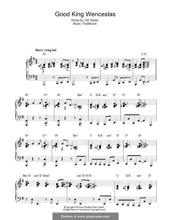 Good King Wenceslas: Für Klavier (jazz version) by folklore