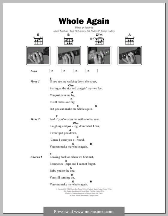 Whole Again (Atomic Kitten): Text und Akkorde by Andy McCluskey, Bill Padley, Jeremy Godfrey, Stuart Kershaw