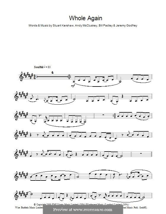 Whole Again (Atomic Kitten): Für Klarinette by Andy McCluskey, Bill Padley, Jeremy Godfrey, Stuart Kershaw