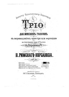 Die Libellen, Op.53: Die Libellen by Nikolai Rimsky-Korsakov