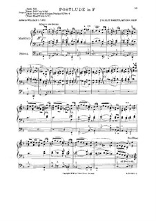 Postlude in F-dur: Postlude in F-dur by John Varley Roberts