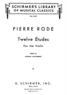 Zwölf Etüden für Violine: Zwölf Etüden für Violine by Pierre Rode