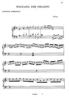 Toccata für Orgel: Toccata für Orgel by Antonio Romanini