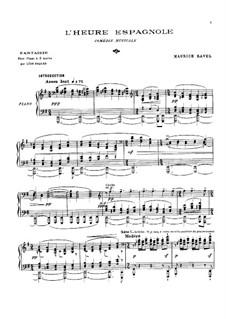 Fantasie über Themen aus 'Die spanische Stunde' von Ravel: Fantasie über Themen aus 'Die spanische Stunde' von Ravel by Leon Roques