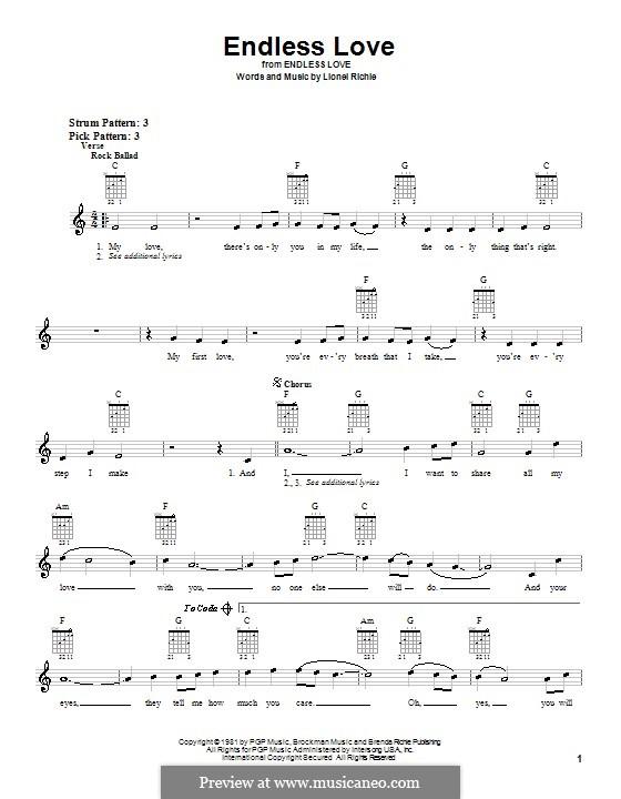 Endless Love: Für Gitarre by Lionel Richie