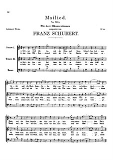 Mailied, D.129: Mailied by Franz Schubert