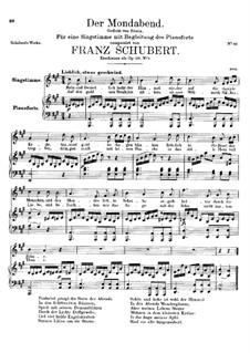 Der Mondabend, D.142 Op.131 No.1: A-Dur by Franz Schubert