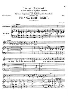 Loda's Gespenst, D.150: Für Stimme und Klavier by Franz Schubert