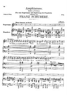 Amphiaraos, D.166: Amphiaraos by Franz Schubert