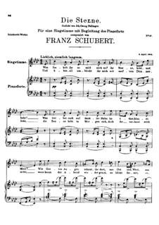 Die Sterne, D.176: As-Dur by Franz Schubert