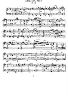 Adagio für Klavier in G-Dur, D.178: Für einen Interpreten by Franz Schubert