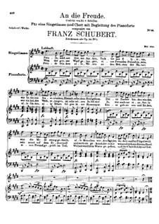 An die Freude, D.189 Op.111 No.1: E-Dur by Franz Schubert