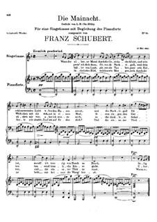 Die Mainacht, D.194: D-moll by Franz Schubert