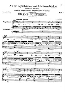 An die Apfelbäume, wo ich Julien erblickte, D.197: A-Dur by Franz Schubert
