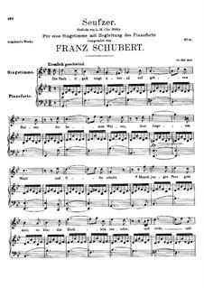 Seufzer, D.198: Für Stimme und Klavier (G minor) by Franz Schubert