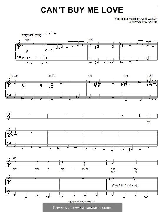 Piano-vocal version: Für Stimme und Klavier (oder Gitarre) by John Lennon, Paul McCartney