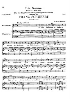 Die Nonne, D.212: As-Dur by Franz Schubert