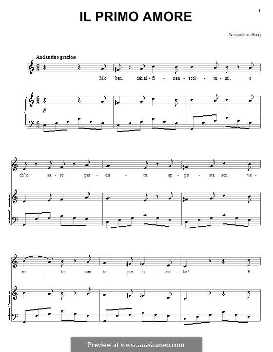 Il primo amore: Für Stimme und Klavier (oder Gitarre) by folklore