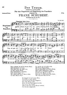 Der Traum, D.213 Op.172 No.1: A-Dur by Franz Schubert