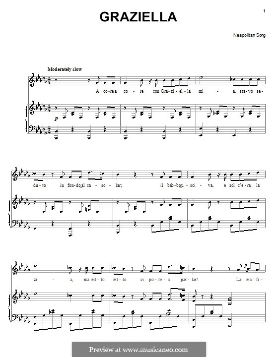 Graziella: Für Stimme und Klavier (oder Gitarre) by folklore