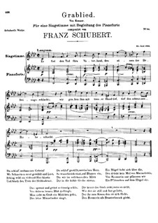 Grablied, D.218: F-moll by Franz Schubert