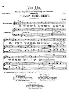 Von Ida, D.228: F-moll by Franz Schubert