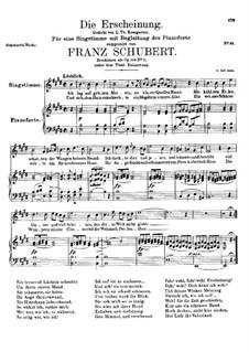 Die Erscheinung (Erinnerung), D.229 Op.108 No.3: E-Dur by Franz Schubert