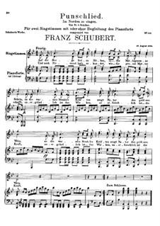 Punschlied (Im Norden zu Singen), D.253: B-Dur by Franz Schubert