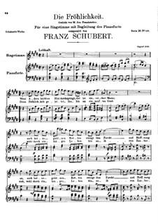 Die Fröhlichkeit, D.262: E-Dur by Franz Schubert