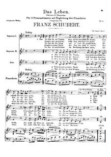 Das Leben ist ein Traum, D.269: Das Leben ist ein Traum by Franz Schubert