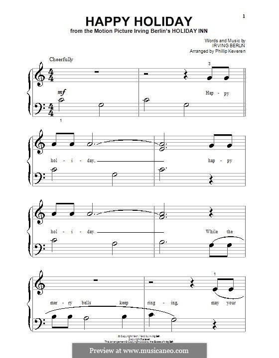 Happy Holiday: Für Klavier (sehr leichte Fassung) by Irving Berlin