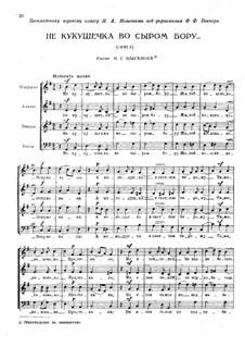 Drei Chöre, TH 87: Drei Chöre by Pjotr Tschaikowski