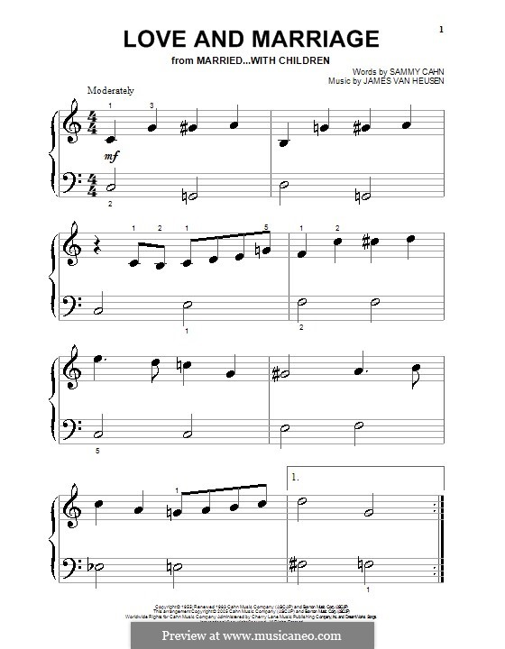 Love and Marriage (Frank Sinatra): Für Klavier by Jimmy Van Heusen