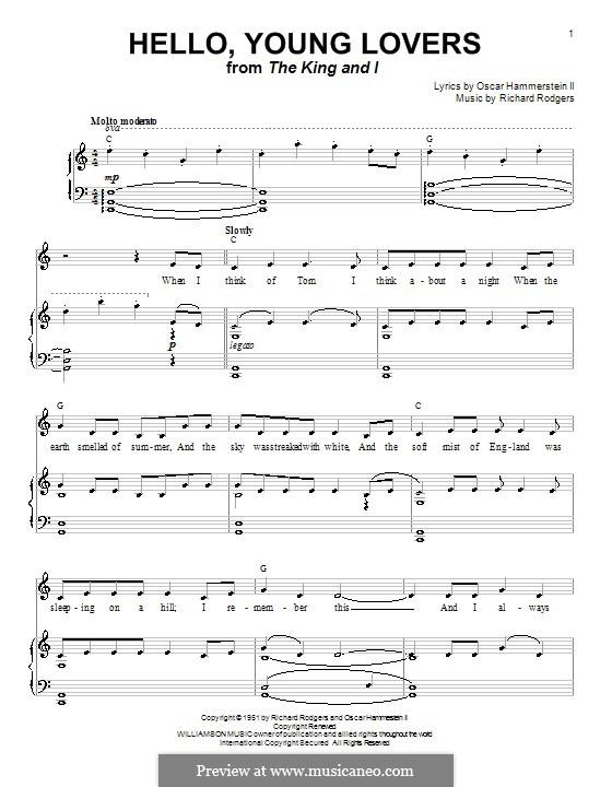 Hello, Young Lovers: Für Stimme und Klavier (oder Gitarre) by Richard Rodgers