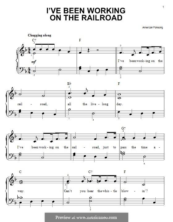 I've Been Working on the Railroad: Für Klavier, leicht by folklore